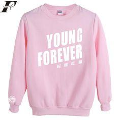 KPOP Bangtan Boys Sweater BTS Sweatshirt Suga Rap-Monster Jacket Pullover M Pink: Size Informationbr -----------------------------------------------------------------br Bts Hoodie, Bts Shirt, Rap Monster, Bts Young Forever, Bts Clothing, Boys Sweaters, Kpop Outfits, Sweater Jacket, Pink Sweater