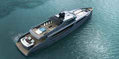 "50m superyacht ""Taurus"" - concept  by Esenyacht. More ->  www.ruYachts.com #ruYachts #megayacht #superyacht #concept #design"