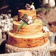 Rustic grooms cake idea