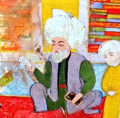 Iranian Art, Ottoman Empire, Miniatures, Painting, Arab World, Book, Painting Art, Paintings, Painted Canvas