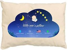 NEW! 20 x 14 Toddler//Junior Small Pillowcase 100/% Organic Cotton Voile Size