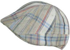 Scala Plaid Ivy Linen Cotton Blend Scally Cap Duckbill Summer Driver Golf Flat Hat
