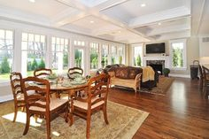 Love lots of light Upper Montclair, NJ, New Home, Norman Road - traditional - family room - new york - Oasis Architecture Family Room Design, Family Rooms, Floor To Ceiling Windows, Room Pictures, Ceiling Design, House Rooms, Great Rooms, Living Room Designs, New Homes