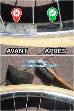 How to remove rust from bicycle rims with white vinegar.