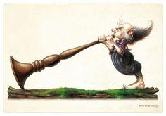 Fairy trumpet-blower. (Artist: Pascal Moguerou.)