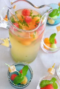 How refreshing! #food #drink - http://www.designsponge.com/2011/09/behind-the-bar-lauren-fisters-melon-rumballa.html