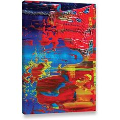 Byron May The Abstract Storm Gallery-Wrapped Canvas Wall Art, Size: 32 x 48, Red