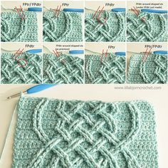 Celtic Tiles Blanket - FREE overlay crochet pattern by Lilla Bjorn
