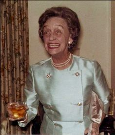 Snapshots of a fabulous older lady at a cocktail party wearing a satin jacket. c. 1960s. New Hospice Rules. marchmatron.com