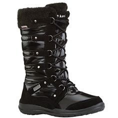 Kamik Women's Valletta Insulated Winter Boot, Black, 6 M US * Read more reviews of the product by visiting the link on the image.