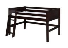 Camaflexi Low Loft Bed - Panel Headboard - Cappuccino Finish - C422_CP