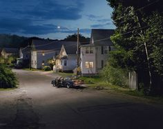 """My pictures must first be beautiful, but that beauty is not enough. I strive to convey an underlying edge of anxiety, of isolation, of fear. "" — Crewdson"