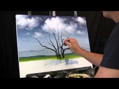 ▶ Time Lapse Speed Painting Jacaranda Tree by TIm Gagnon oil/acrylic landscape paintings. - YouTube