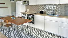 Que pensez-vous des carreaux de ciment dans la cuisine ?