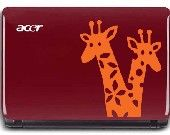 giraffes on laptop decal