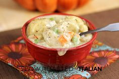 The Slow Roasted Italian: Chicken and Dumplings in 30 Minutes! 2 POST WEDNESDAY!