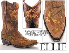 Old Gringo Ellie ~ If I had to wear cowboy boots... Id pick these... Love the embroidery... So pretty!!