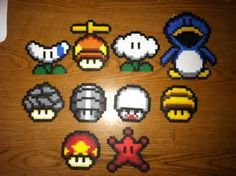 mario bros propeller mushroom perler beads - Yahoo Image Search Results