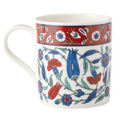 Inspired by the brightly decorated ceramics from the period of the Ottoman Turkey, c. 1540-70.