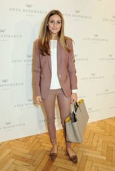 the op suit: leather pants and matching blazer.