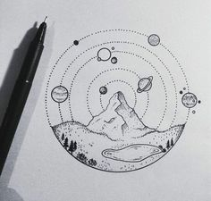 Cool mountain and planets