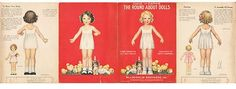 ~VINTAGE~UNCUT~1933~THE ROUND ABOUT DOLLS~McLOUGHLIN BROTHERS~BETTY CAMPBELL~ (05/25/2013)