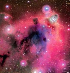 The silhouette of a Lynd's dark nebula appears against a faint background of glowing hydrogen gas only easily seen in long telescopic exposures of the region. LDN 1622 lies near the plane of our Milky Way Galaxy, close on the sky to Barnard's Loop - a large cloud surrounding the rich complex of emission nebulae found in the Belt and Sword of Orion.