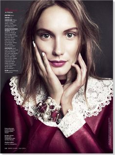 Actress Ana Girardot clipped from Marie Claire using Netpage.