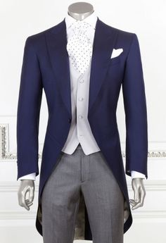 Dark Blue Morning Suit