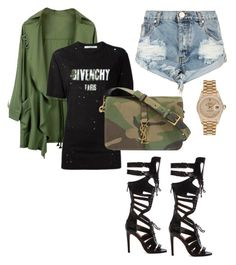 Trapper by kcjnsight on Polyvore featuring polyvore, moda, style, Givenchy, One Teaspoon, Rebecca Minkoff, Yves Saint Laurent, Rolex, fashion and clothing