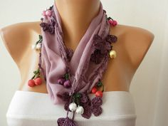 ON SALE  Spring Celebrations Pale Lavender Scarf by fatwoman,