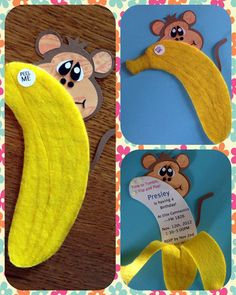 Banana Peel monkey birthday Invitations. $3.00, via Etsy.