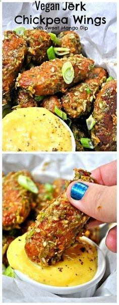 Vegan Jerk Chickpea Wings with Sweet Mango Dip appetizers healthy;appetizers easy paleo holiday;appetizers savory christmas;appetizers food sandwiches;appetizers sweet desserts dips and;appetizers recipes;fall;appetizers savory cheese;appetizers for party snacks for party;appetizers meat snacks;appetizers quick fingerfoods;appetizers chocolate;appetizers appetizer cheese;appetizers dips easy fruit;appetizers popular;appetizers parties;appetizers for party the best;appetizers fall savor...