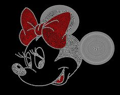 Disney's MINNIE MOUSE Inspired Fan Art Rhinestone Iron On Transfer Hot Fix Bling