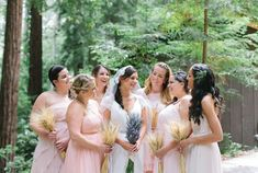 Using a national park for your big day is great venue idea! This bride also saved money with a wheat bouquet and by borrowing her grandmother's wedding veil!