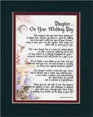 Poem From Mom To Daughter On Wedding Day