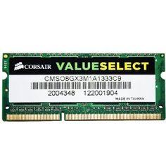 Corsair 8GB (1x8GB) DDR3 1333 MHz (PC3 10666) Laptop Memory (CMSO8GX3M1A1333C9