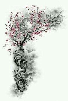 Cherry Blossom Tattoo: Meaning, Designs, Ideas and Much More! Sakura tattoos have been taking the world by storm lately. From what each color tattoo means to plenty of designs, this article will make you want to get a cherry blossom tattoo for yourself! Trendy Tattoos, New Tattoos, Body Art Tattoos, Small Tattoos, Tatoos, Girly Tattoos, Tattoos Cover Up, Pretty Skull Tattoos, Wing Tattoos