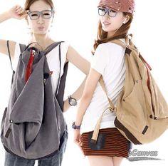 Girls Canvas Backpack Axdxttg