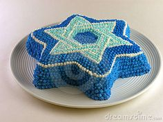 Jewiah Star Cake.  Would be fun to decorate this using M&Ms