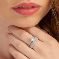 The Zerbap Weddings Ring with Zircon Stone ZB0082 by Rosestyle, $23.50