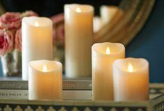 Flameless Candles by Luminara in a wonderful display. We love your ideas shared! Disse ser da flotte ut?