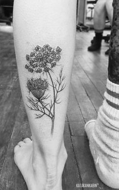 queen anne's lace tattoo - Google Search