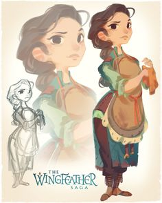 As Production Designer for the Wingfeather Saga pilot, I& also designed the principle cast of ragamuffin little lovies and I, excited to be allowed to share a little look behind the scenes of each Female Character Design, Character Design References, Character Design Inspiration, Character Concept, Character Art, Concept Art, Anime Comics, Mom Characters, Saga Art