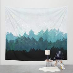 Woods Abstract Wall Tapestry by Mareike Böhmer Graphics | Society6