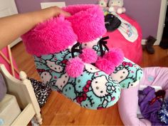 Hello Kitty Slippers Booties Pink Tumblr