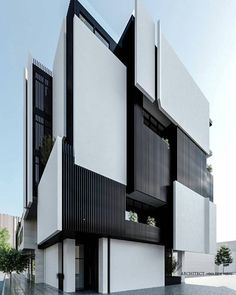 Get the latest news on contemporary architecture and get inspiration for your next interior design p Minimalist Architecture, Modern Architecture House, Facade Architecture, Residential Architecture, Modern House Design, Amazing Architecture, Contemporary Design, Architecture Interiors, Facade Design