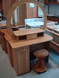Bedroom Closet Design, Bedroom Furniture Design, Bed Furniture, Dressing Table For Small Space, Dressing Table Design, Striped Walls Bedroom, Modern Wooden Furniture, Wooden Main Door Design, Wooden Jewelry Boxes