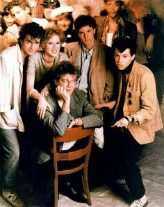 "Hughes and ""Pretty in Pink"" cast!"