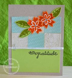 Card by PS DT Teri Anderson using the PS Calico stamp set